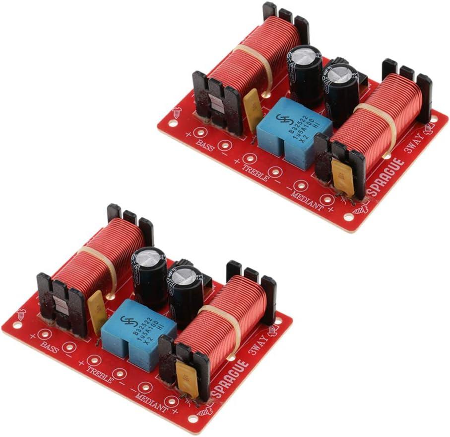 3 Piezas Divisor de Frecuencia de Filtro de Audio de Cruce de Altavoz para Automó