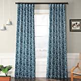 HPD Half Price Drapes BOCH-KC16075A-120 Blackout Curtain 50 x 120 Abstract Teal