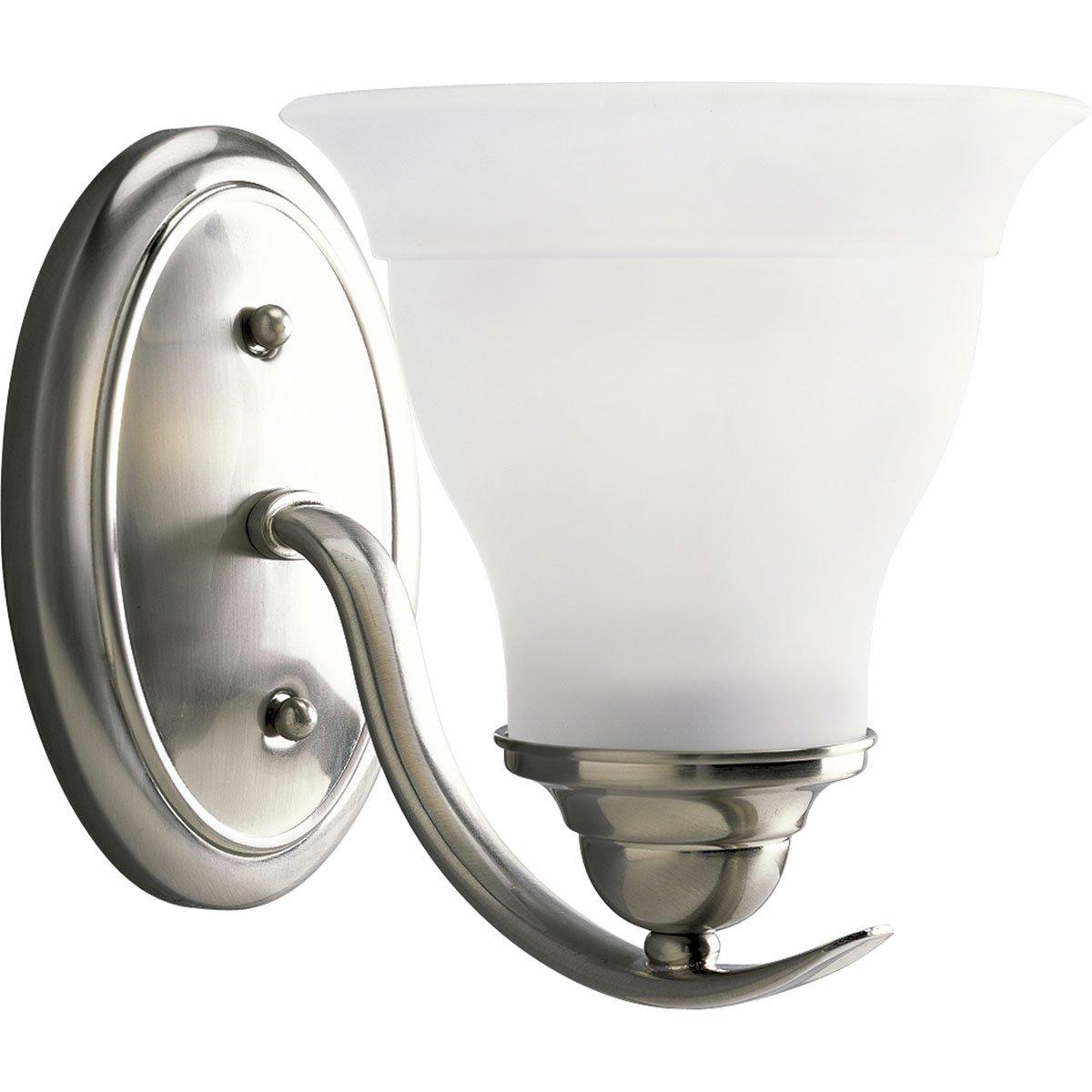 Progress Lighting P3190 09 1 Light Bath Bracket, Brushed Nickel   Vanity  Lighting Fixtures   Amazon.com