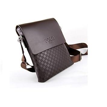 50f8bd3df0 Videng Polo pour homme en cuir de haute qualité Sac à main sacoche à  bandoulière