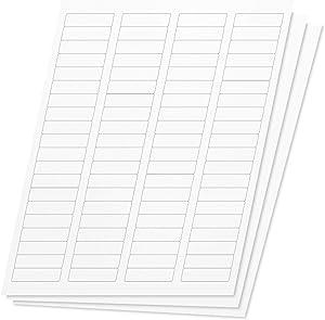 OfficeSmartLabels Rectangular 1/2 x 1-3/4 Return Address Labels for Laser & Inkjet Printers, 0.5 x 1.75 Inch, 80 per Sheet, White, 12000 Labels, 150 Sheets