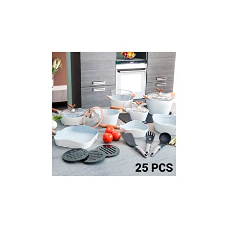 Sartenes y Batería de Cocina White Premium 10143502 (25 piezas)