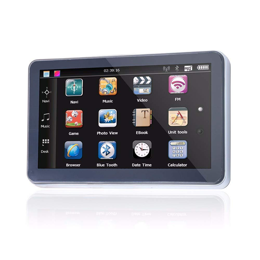 KUMAW 7.0-Inch Portable GPS Navigator with Lifetime Maps Fits All Cars Vehicles