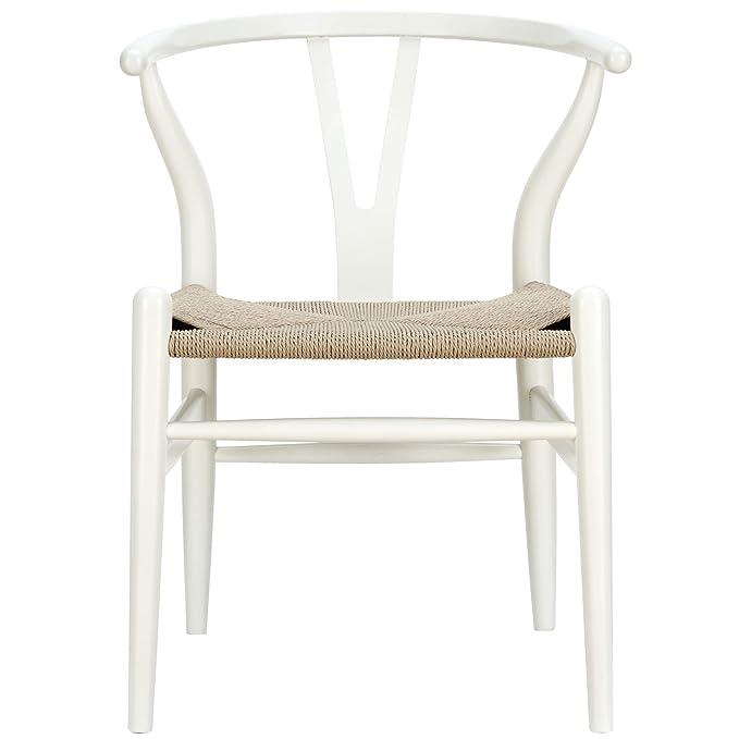 Amazon.com: lexmod C24 Wishbone – Silla en nogal: Kitchen ...