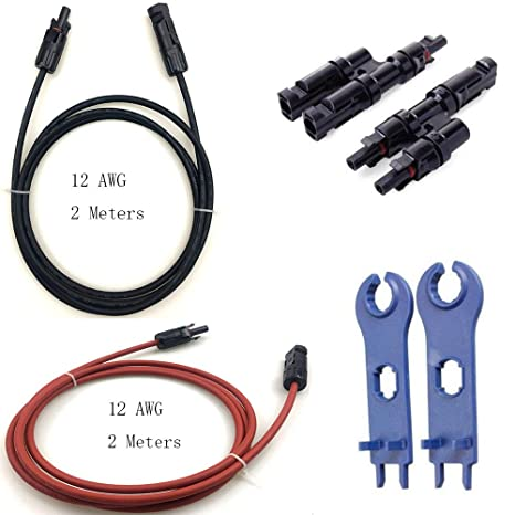 1 Pair IP67 5 way PV connector MC4 Y Cross solar connector 4 in 1 male/&female
