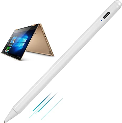 Amazon Com New 2018 Yoga 730 2 In 1 Laptop Stylus Pens Active Stylist Digital Capacitive Pen For Lenovo Yoga 730 2 In 1 15 6 Touch Screen Laptop Stylus With Ultra Fine Tip Touch Control And Rechargeable White Computers Accessories