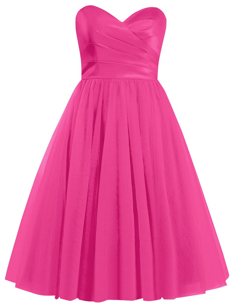 Cdress Tulle Short Bridesmaid Dresses Sweetheart Cocktail Gowns Homecoming Dress CE018