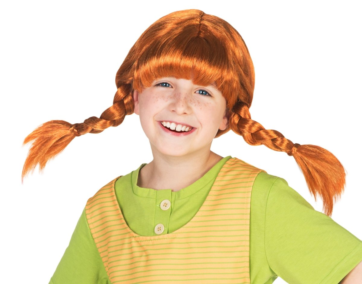 Checking Out Pippi Longstocking From >> Pippi Longstocking Children S Wig With Plaits Fancy Dress Red