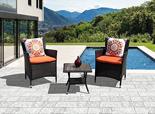 Brown Garden Furniture Sets: PATIOROMA Patio Furniture Set, Weather Resistant Outdoor