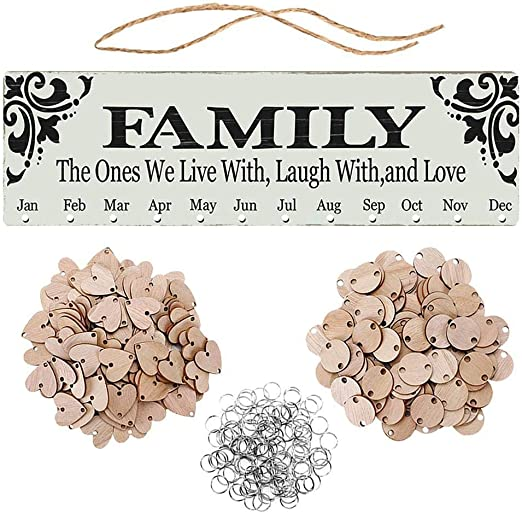 Amazon.com: Lin890 Family Birthday Board Reminder Wall Plaque Wood