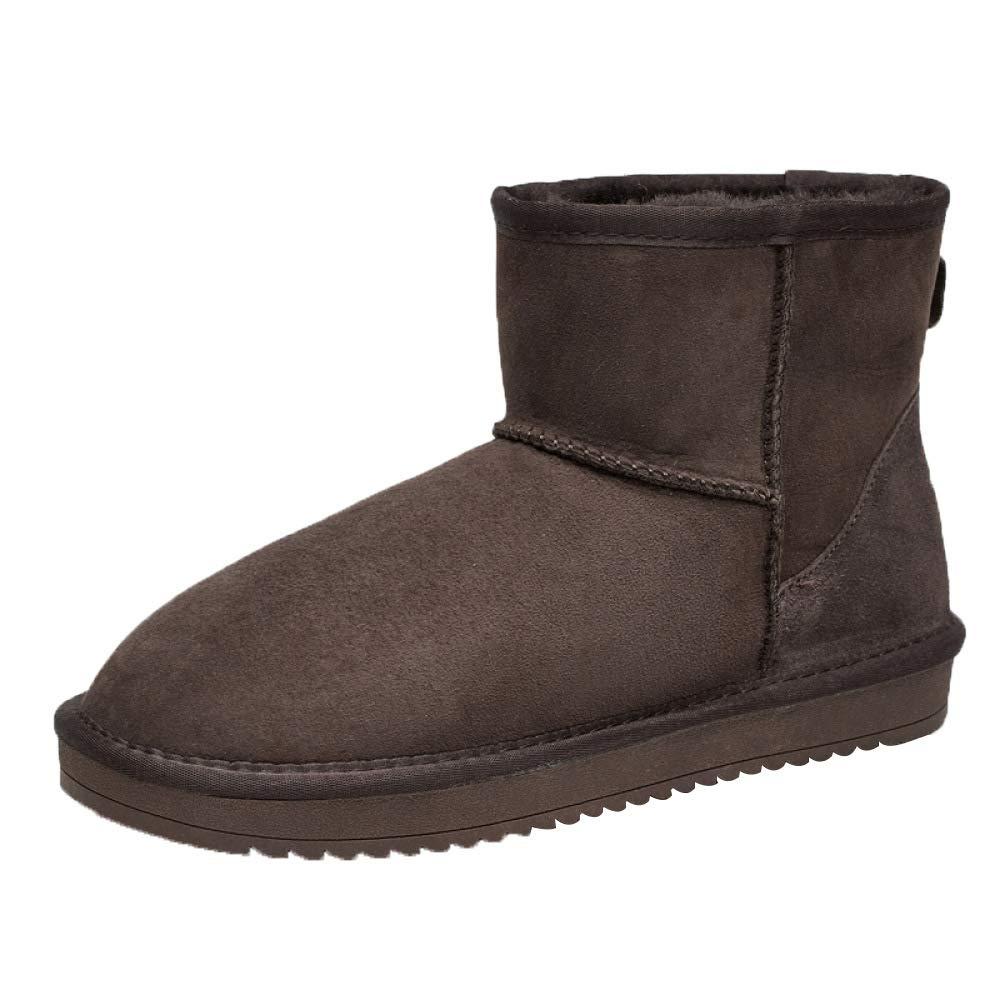 botas De Nieve zapatos De Exterior para hombres zapatos con Forro De Piel Antideslizante Y con Suela Gruesa De Algodón Antideslizante marrón