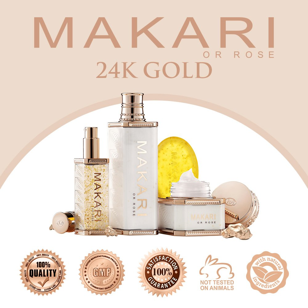 Makari 24K Gold Lightening Soap – Exfoliating Anti-Aging Face & Body Bar w/Real Gold Particles, Omega 3 & Active Probiotics for Scars, Stretch Marks & Dead Skin Cells – Luxurious Rejuvenating Formula