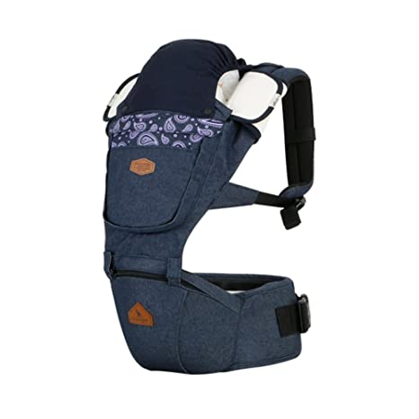 Amazon.com : I-angel Denim Hipseat Baby Carrier 3-in-1, Front, Backpack Baby carriers (Paisley-A Purple) : Baby