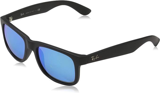 Ray-Ban Hombre Justin gafas de sol RB4165, Negro, Negro (Gold 622 ...