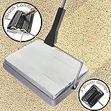 Varredora Nova Silver Cordless Carpet & Hard Floor Manual Sweeper
