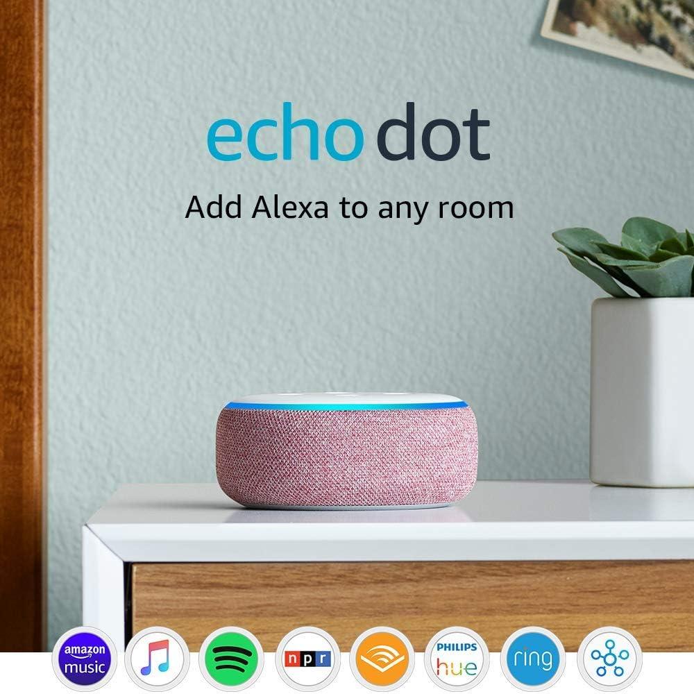 Certified Refurbished Echo Dot (3rd Gen) - Smart speaker with Alexa - Plum