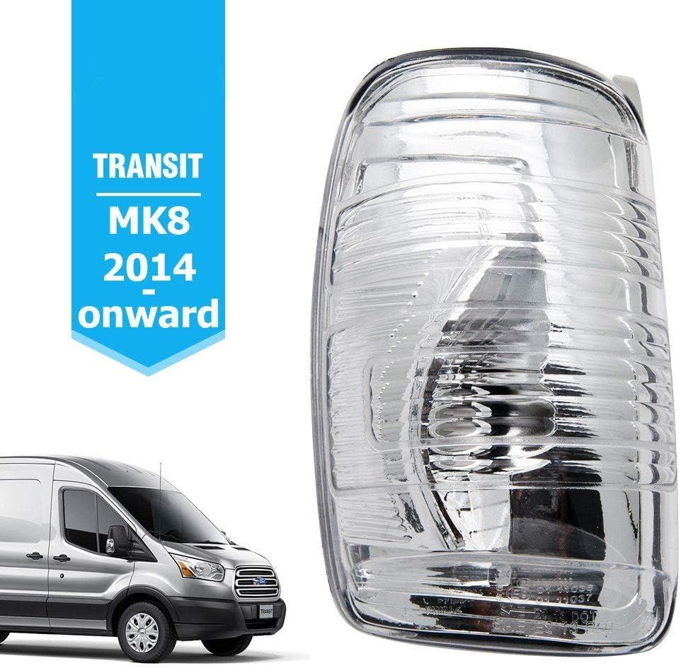 Semoic 1847387 Wing Mirror Indicator Lamp Lens Cover Door Wing Mirror Indicator Lens Left LH Side for Transit MK8 2014-2019