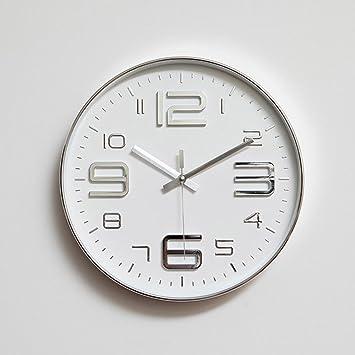 Aoligei Mudo Reloj salón Reloj Dormitorio Creativo Reloj Digital Reloj de Pared 30.5 * 30.5 *