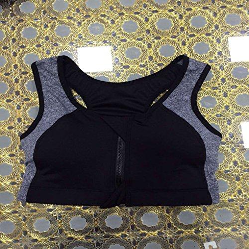 Mengonee Sous-vêtements de sport Wirefree rembourrées Soutien-gorge sport Femmes Fille Zipper Push Up Sous-vêtements Brassiere