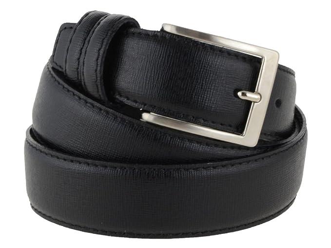 4a0603932d Cintura uomo in pelle color nero classica, elegante, artigianale, modello  Prada, e made in Italy - 3,5 cm