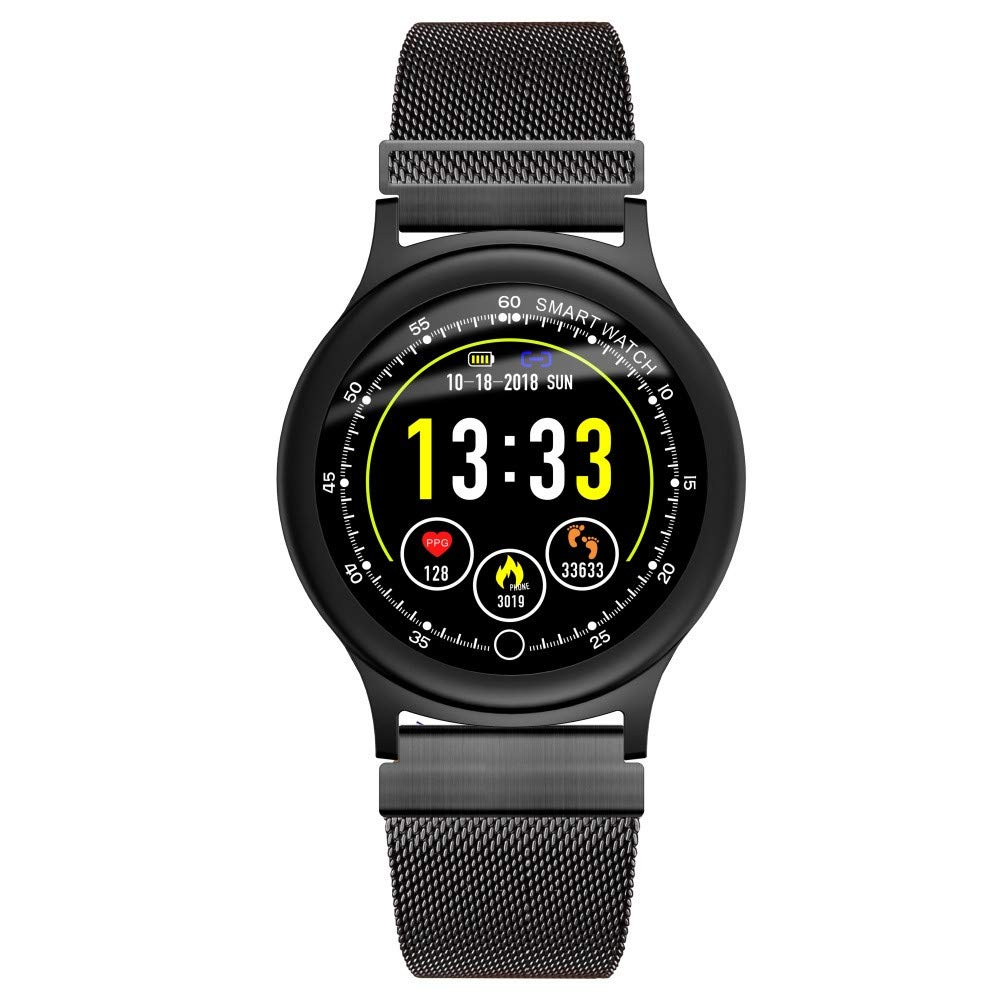 Cywulin Smart Watch Fitness Tracker, IP68 Waterproof Sport Wrist Bracelet Color Screen Activity Tracking Music Control Heart Rate Sleep Monitor Pedometer Calories iOS Android Kids Men Women (Black)