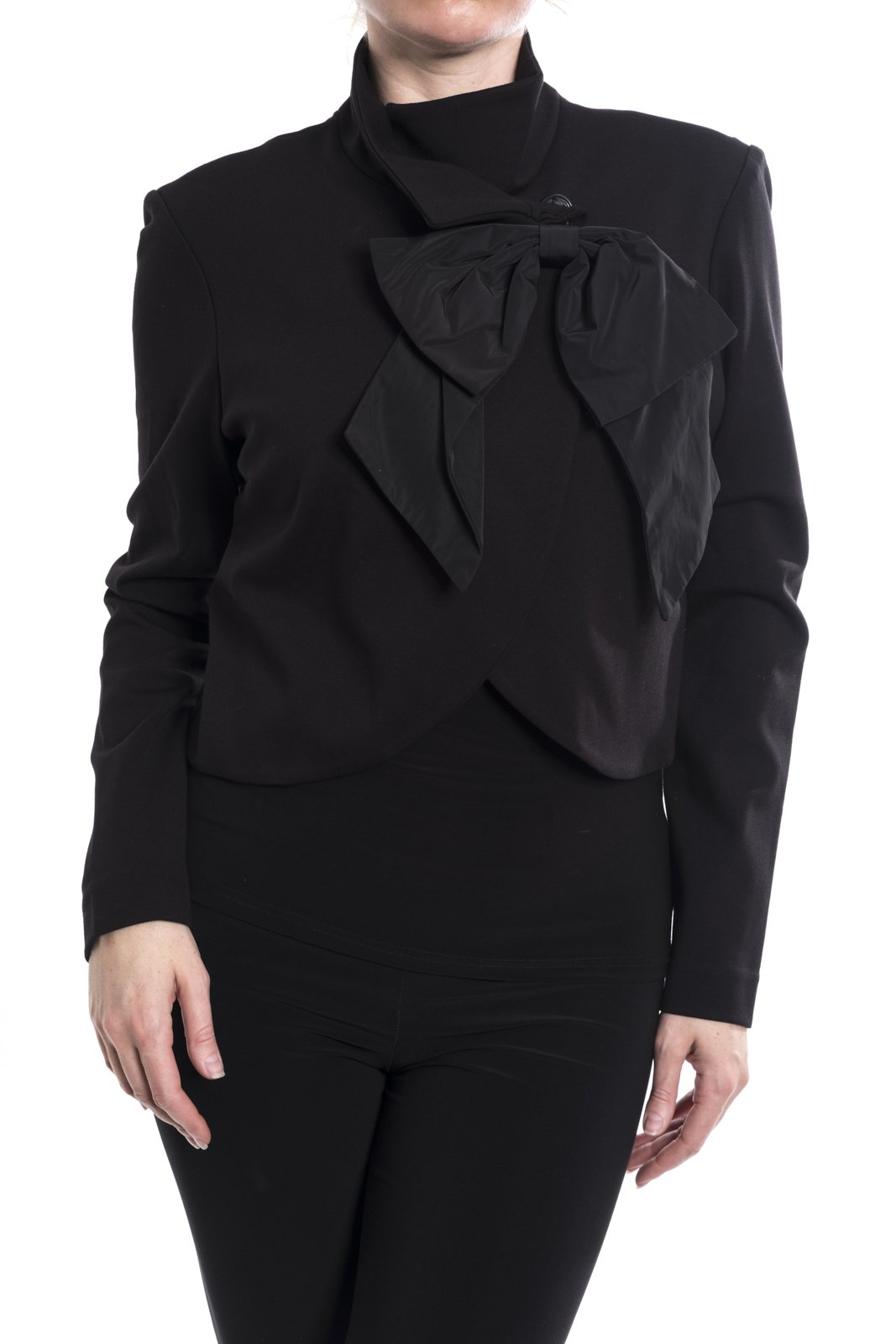 Joseph Ribkoff Cropped Jacket With Bow Accent Style 174676 Size 18 by Joseph Ribkoff