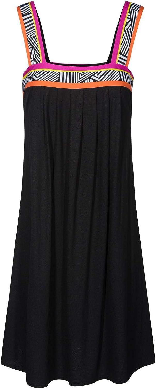 Feraud 3195117-10995 Womens Beach Black Striped Beach Dress