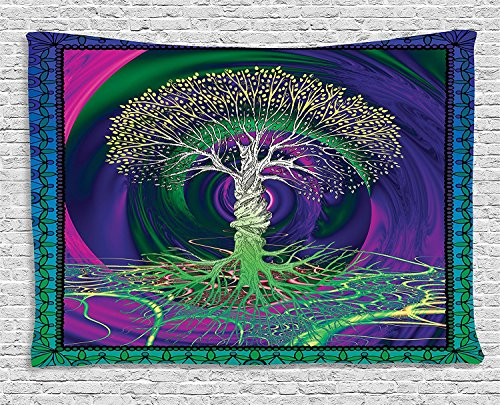 Psychedelic wall tapestry - trippy home decor