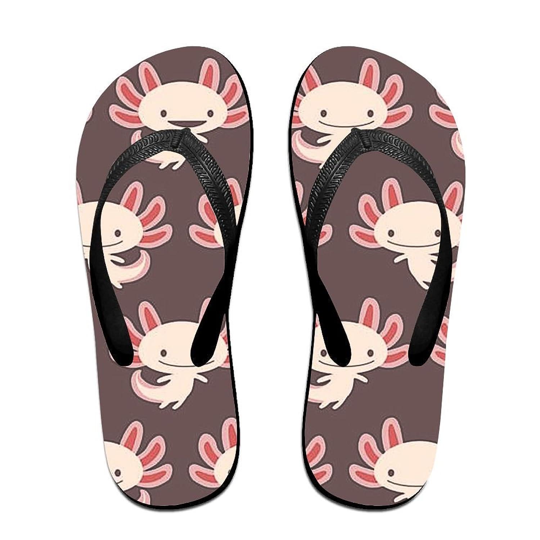 812213401ec Patterned Men Women Sandals Cute Newt Axolotl Baby Flip Flops Beach Slipper  For Indoor Outdoor