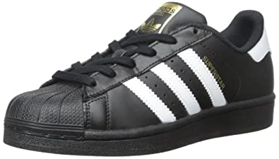 adidas Originals Men's Superstar White and Core Black Leather