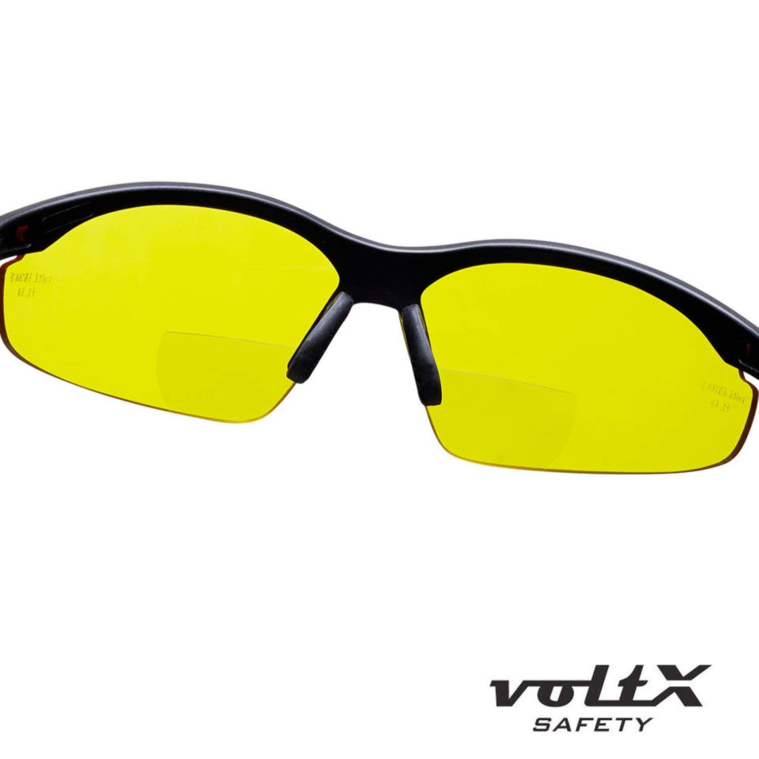 Includes Safety Cord with headstop +3.0 Dioptre Clear, Polarized /& Yellow Lens CE EN166f certified//Cycling Sports Glasses Wraparound Style 3 x voltX CONSTRUCTOR BIFOCAL Reading Safety Glasses