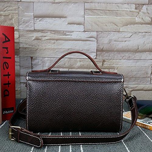 DJB/Handtasche baodan Simple Messenger Bag Umhängetasche Messenger Bag Leder Wildleder Leder Tasche