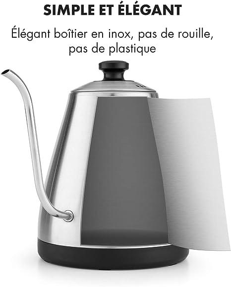 KLARSTEIN Garçon Bouilloire, Puissance : 1800 2000 W, Température réglable : 40 °C 100 °C, Fonction Maintien au Chaud, Ecran LED, Protection
