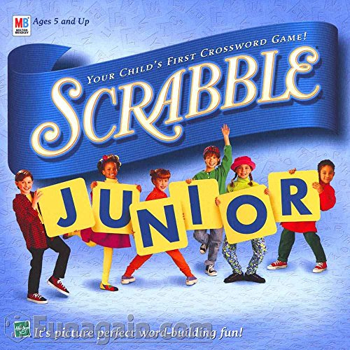 Scrabble Junior: Your Child's First Crossword Game! (1999 Vintage) (Crossword Game Scrabble Board)