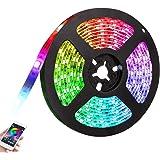 Gluckluz LED Light Strip Smart Bluetooth Lighting 2m USB Smartphone APP Control RGB 5050 Color Changing Waterproof TV…
