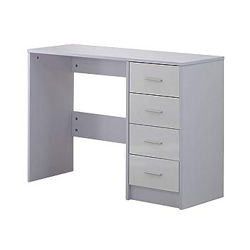 Amazon De Homcom Hochglanz Kommode Mit Schubladen Computer Pc Tisch
