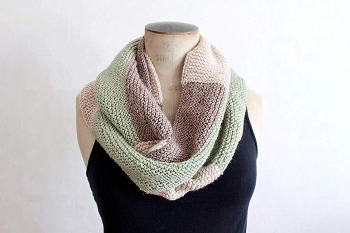 remise spéciale divers styles Bons prix Grande écharpe tricotée Grosse écharpe tricolore fantaisie ...