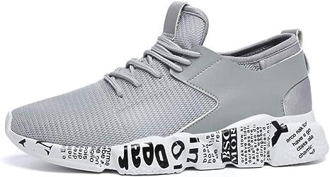 WDDGPZYDX Tallas Grandes 35-46 Zapatos par Zapatos Casuales Inferiores Hombres Sudadera Transpirable Calzado Hombre Tenis Unisex,Gris,10.5: Amazon.es: Deportes y aire libre