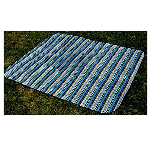 ZGYZ Große Größe Camping Mat Outdoor Sandless Wasserdichte Baumwolle Picknickdecke Erweitern Picknick Matte, Wasserdichte Aluminiumfolie,200  200
