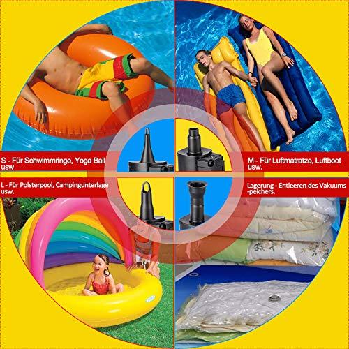 WeaArco Elektrisch Luftpumpe Tragbarer Kabellos Wiederaufladbare Inflator/ Deflator - Schnellbefüllbarer Akku Elektrische Luftpumpe für Luftmatratze, Pool, Schlauchboot, Camping Aufblasbares Sofa