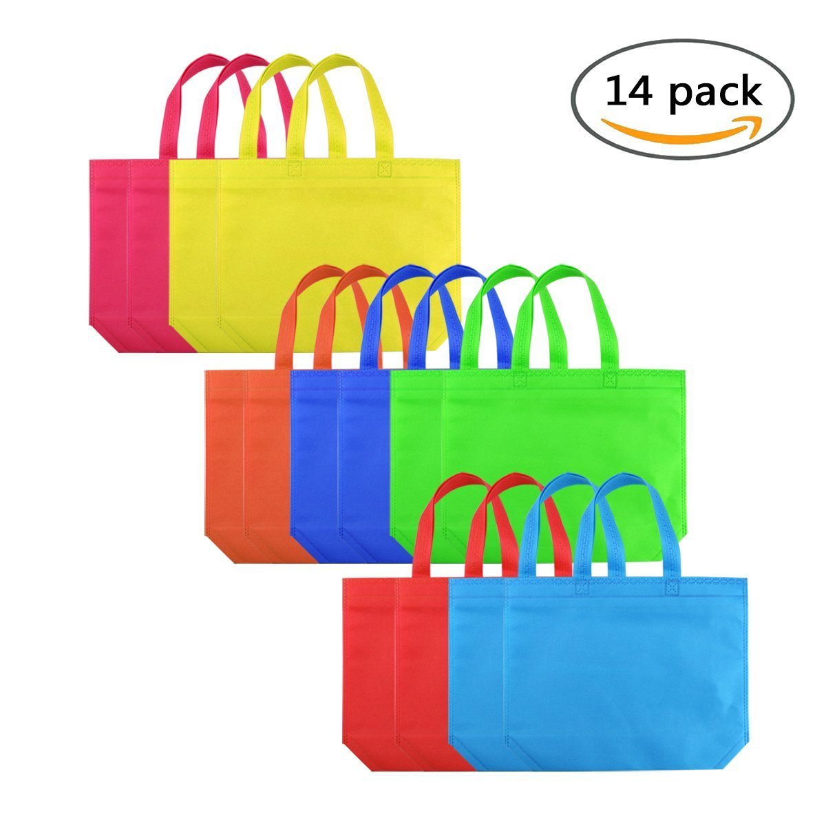 Party Favor Bags Holiday Gift Tote Bags Non Woven Bag with Handles Size 12.6''X10.2''