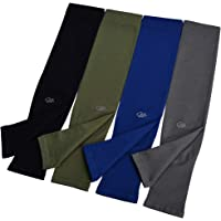 UV Sun Protection Cooling Arm Sleeves UPF 50+ 4-Pairs for Men Women Cycling, Golf, Outdoor Sports