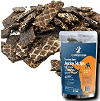 K9warehouse Jerky Treats for Dogs | HARD Thick Cut, Long Lasting Beef Strips Inspected in USA | Savory Liver Formula with...