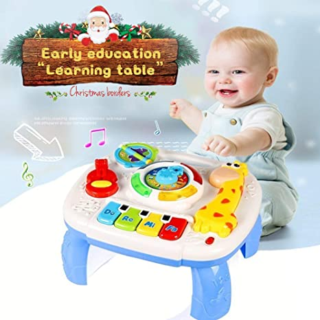 Amazon Com Homofy Baby Toys Musical Learning Table 6 Months Up