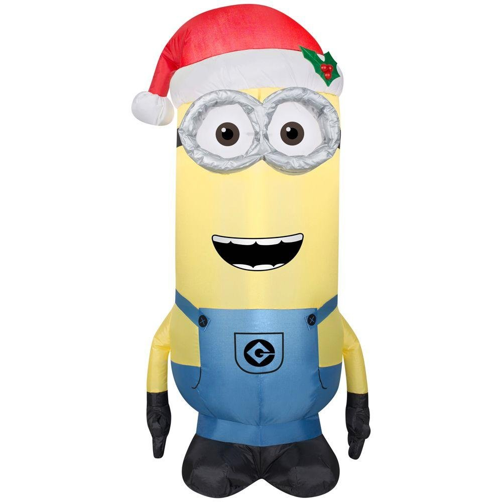 Despicable Me Minion Made Lighted Airblown Inflatable Kevin with Santa Hat 3.5ft. Tall