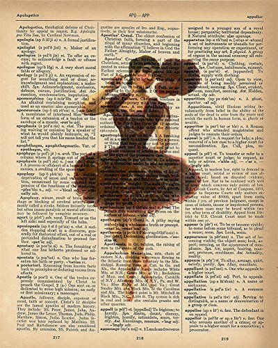 Dictionary Print - Ballerina Purple Upcycled Vintage Dictionary Page Poster - Size 8x10