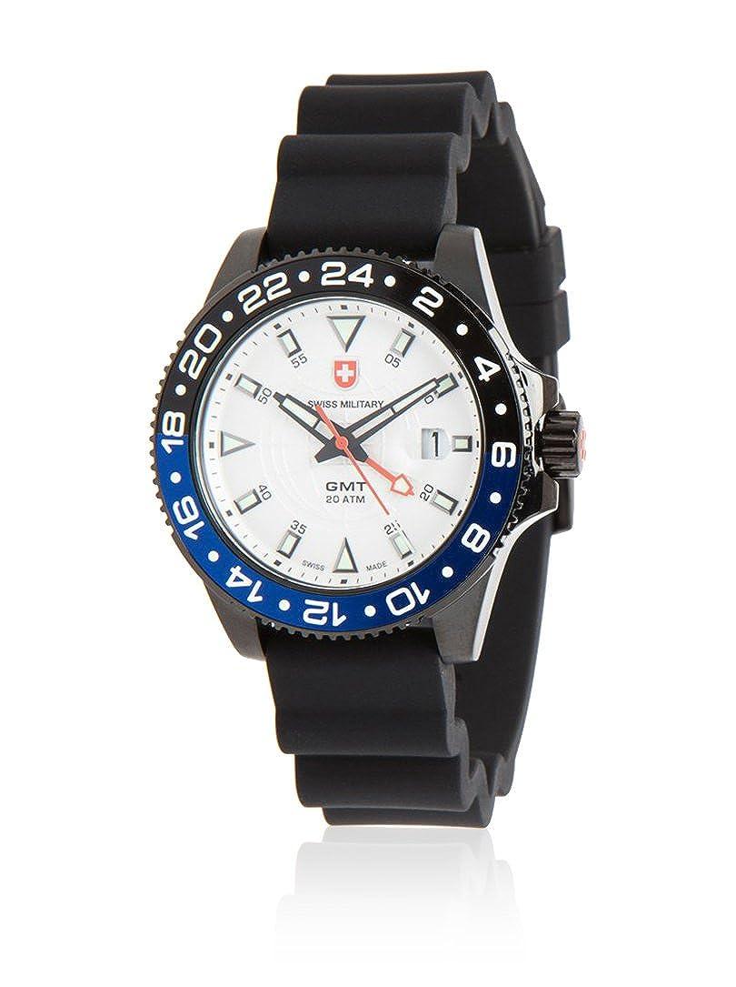 Amazon.com  Swiss Military GMT Nero Scuba Men s Quartz Watch 27751  Watches c56531b238