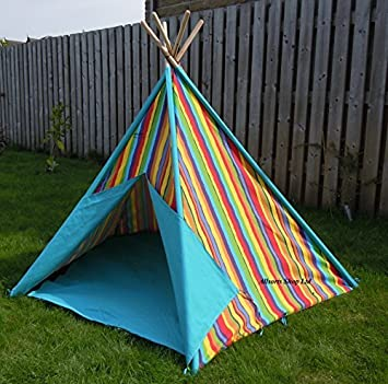 Indoor / Outdoor Wigwam Play Tent - Stripe Design by home Interiors & Indoor / Outdoor Wigwam Play Tent - Stripe Design by home ...