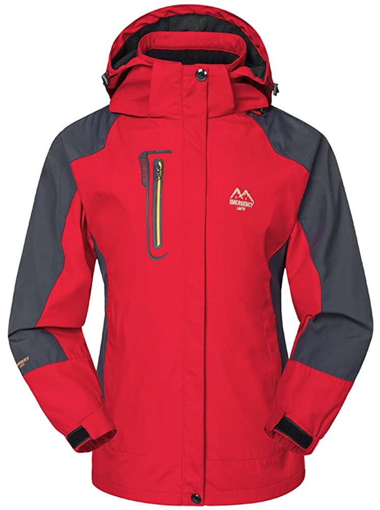 Mochoose Damen Outdoor Mountain Wasserdichte Windbreaker Jacken Softshell Ski Kapuzenjacke Sportbekleidung Regenmantel Camping Angeln Jagd Arbeitsjacke