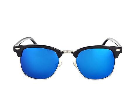 9e5e5b921 Amazon.com: Dormery Square Polaroid Men Sunglasses Women Brand Designer  Fashionsun glasses oculos de sol feminino MA016 NO2 Blue Mirror  (7900246813545): ...